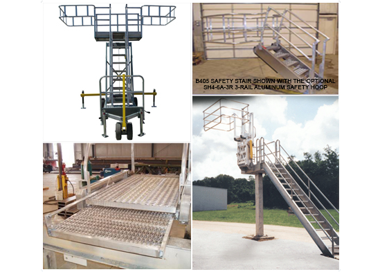Portable Platform, Safety Stairs, Telescoping Ramp, Truck Access Platform
