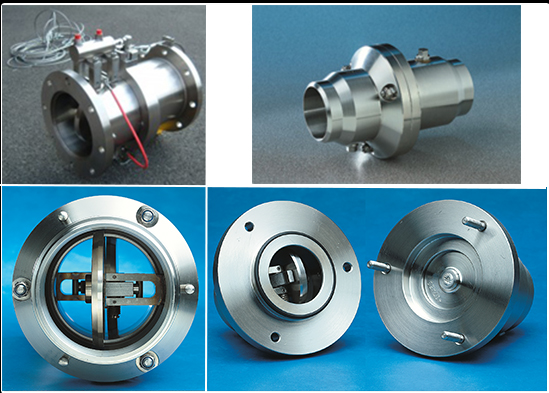 Emergency Release Coupling, Breakaway Coupling, weld ends, Breakaway Coupling open position, Breakaway closed position after release